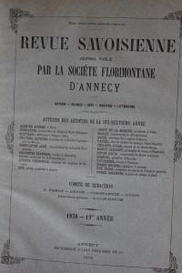 Revue Savoisienne, 1878