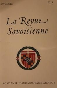 Revue Savoisienne, 2013